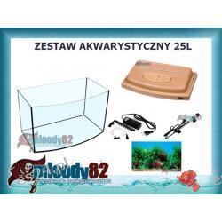 Zestaw akwarystyczny 25L PROFIL BUK + Pełne wyposażenie + Gratisy