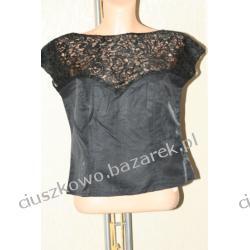 Czarna elegancka bluzka wizytowa