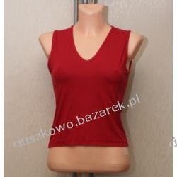 Ciemno czerwona zwiewna bluzka