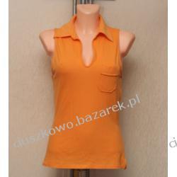 Sportowa pomarańczowa bluzka z kołnierzykiem