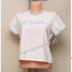 Koszulka młodzieżowa z niebieska aplikacja
