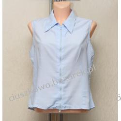 Błękitna zwiewna bluzka