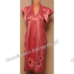 Rózowa suknia wieczorowa z bolerkiem