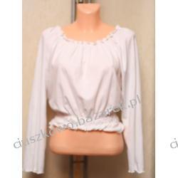Biała bluzka z długim rekawem