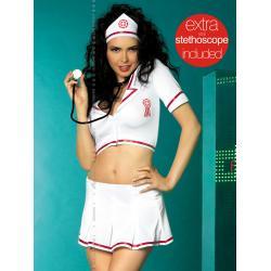 Obsessive Emergency Skirty Set + stetoskop kostium...