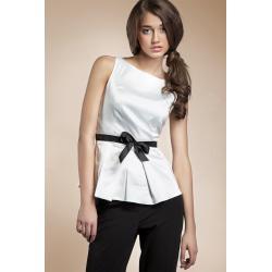 Bluzka baskinka - biały - B20...