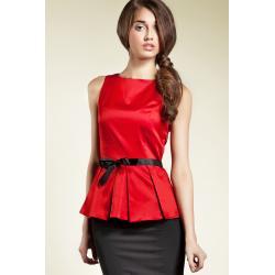 Bluzka baskinka - czerwony - B20...