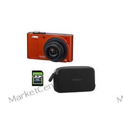 PENTAX Optio RZ18 pomarańczowy metalik + etui + karta 4 GB