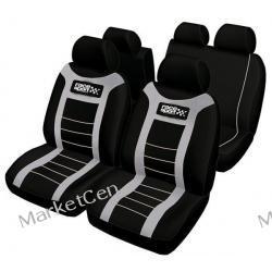 RACE SPORT Zestaw pokrowców na fotele samochodowe FUND301 - szare