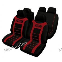 RACE SPORT Zestaw pokrowców na fotele samochodu FUND303 - czerwony