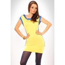 3018-2 Tunika/sukienka bez rękawów o żywych barwach - żółty...