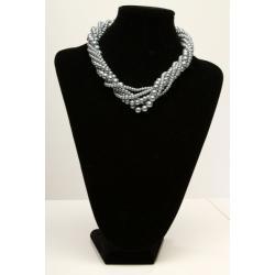 2817-2 Ozdobna kolia na szyję - kolor srebrny...