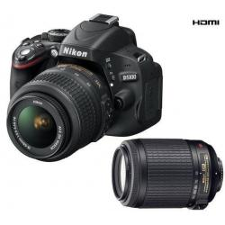 D5100 + obiektyw AF-S VR DX 18-55 mm + obiektyw AF-S VR DX 55-200 mm...