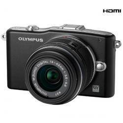 PEN E-PM1 czarny + obiektyw M.Zuiko Digital 14-42mm II + Karta pamięci SDHC 8 GB...