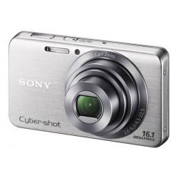 DSC-W630 srebrny + Karta pamięci SDHC 4 GB  + Akumulator litowy kompatybilny z NP-BN1 + Etui Pix Ultra Compact 9,5 x 2,7 x 6,5 c...