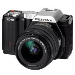 K-01 czarny + obiektyw DAL 18-55 mm + Karta pamięci SDHC 16 GB Klasa 10 + Etui PSL5002/PIX XL...