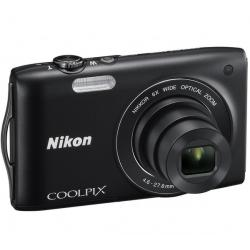 S3200 czarny + Akumulator litowy  ENEL19 kompatybilny  z Nikon EN-EL19 + Karta pamięci SDHC 4 GB  + Etui Pix Ultra Compact 9,5 x...
