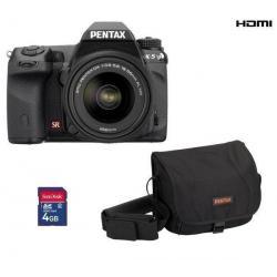 K-5 + obiektyw DA 18-55 mm WR + pokrowiec - karta SD 4 GB + Karta pamięci SDHC 16 GB + Etui PSL5002/PIX XL...