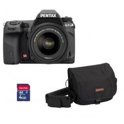 K-5 + obiektyw DA 18-55 mm WR + pokrowiec - karta SD 4 GB + Karta pamięci SDHC 16 GB + Lekki statyw Trepix + Etui PSL5002/PIX XL...