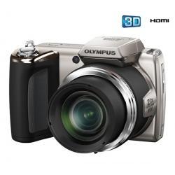 SP-620 UZ srebrny + Karta pamięci SDHC 8 GB + Ładowarka 8H LR6 (AA) + LR035 (AAA) V002 + 4 akumulatorki NiMH LR6 (AA) 2600 mAh +...