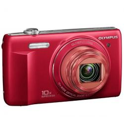 VR-340 czerwony + Etui Compact + Karta pamięci SDHC 4 GB...