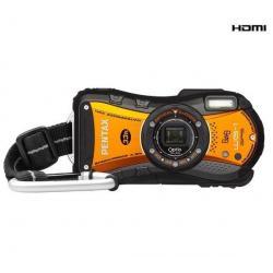 WG-1 GPS pomarańczowy + Etui Compact + Karta pamięci SDHC 8 GB + Akumulator DLI92...