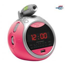 Radio budzik Mp3/USB Gulli różówy...