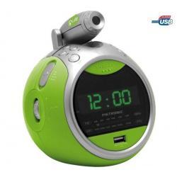 Radio budzik MP3/USB Gulli zielony...