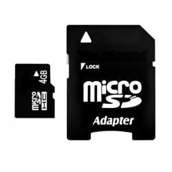 Karta pamięci Micro SD 4 GB z adapterem...