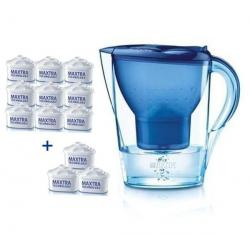 Zestaw 9 wkładów Maxtra + 3 wkłady Maxtra gratis + 1 dzbanek filtrujący Marella niebieski gratis - 1006118...