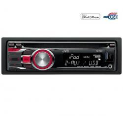 Radioodtwarzacz CD/MP3/USB/iPod KD-R521E + Pokrowiec do panela radia samochodowego EFA100...