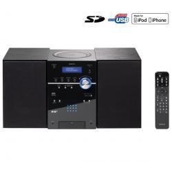 Mikrowieża CD/MP3/USB/SD/iPod MCi-220 + Słuchawki audio SBCHP400...