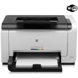 Sieciowa kolorowa drukarka laserowa LaserJet Pro CP1025nw + bezprzewodowa + Toner 126A (CE311A) cyjan + kartridż tuszu HP Color ...