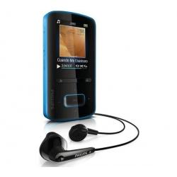 Odtwarzacz MP4 GoGear ViBE 3 - 4 GB niebieski + Kabel audio stereo jack męski/męski  (1,2 m) + Ładowarka USB biała...