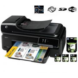 Wielofunkcyjna sieciowa kolorowa drukarka atramentowa all in one  Officejet 7500A + bezprzewodowa  A3 + Kartridż CD972AE - cyjan...