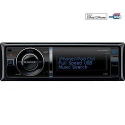 Radioodtwarzacz CD/MP3 USB/iPod KDC-6051U + Pokrowiec do panela radia samochodowego EFA100...