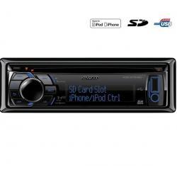 Radioodtwarzacz samochodowy CD/MP3 USB/SD/iPod KDC-5751SD + Pokrowiec do panela radia samochodowego EFA100...