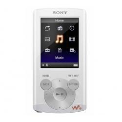 Odtwarzacz MP4 FM NWZ-E364 8 GB biały + Słuchawki douszne MDR-EX50LP czarne + Łącznik do gniazda jack 3.5 mm...