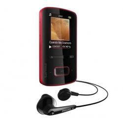 Odtwarzacz MP4 GoGear ViBE 3 - 4 GB czerwony + Kabel audio stereo jack męski/męski  (1,2 m) + Ładowarka USB biała...