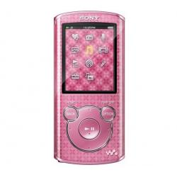 Odtwarzacz MP4 FM NWZ-E463 4 GB różowy + Kabel audio stereo jack męski/męski  (1,2 m) + Ładowarka USB biała...