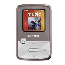 Odtwarzacz MP3 Sansa Clip Zip 8 GB szary + Słuchawki douszne MDR-EX50LP czarne + Łącznik do gniazda jack 3.5 mm...