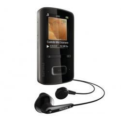 Odtwarzacz MP4 GoGear ViBE 3 - 8 GB czarny + Kabel audio stereo jack męski/męski  (1,2 m) + Ładowarka USB biała...
