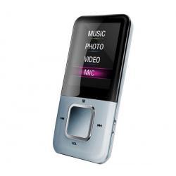 Odtwarzacz MP4 MP122 8GB biały + Słuchawki stereo dzwiek digital(CS01) + Ładowarka USB biała...
