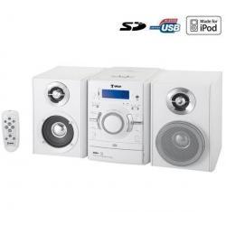 Mikrowieża CD/MP3/USB/SD LHC-827W biała + Słuchawki audio SBCHP400...