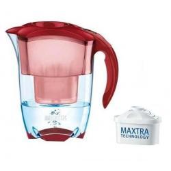 Zestaw czerwony dzbanek filtrujący Elemaris 1001 99 + Wkład Maxtra - zestaw 3...