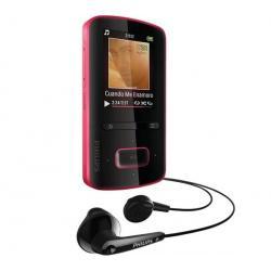 Odtwarzacz MP4 GoGear ViBE 3 - 4 GB różowy  + Kabel audio stereo jack męski/męski  (1,2 m) + Ładowarka USB biała...