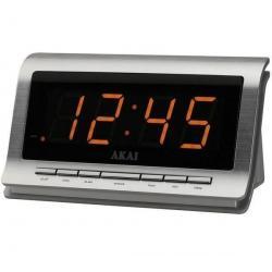 Radio budzik AR-180S srebrny + Bateria Max 3 6LR61 (9V) - 12 zest....