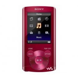 Odtwarzacz MP4 FM NWZ-E364 8 GB czerwony + Kabel audio stereo jack męski/męski  (1,2 m) + Ładowarka USB biała...