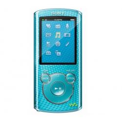 Odtwarzacz MP4 FM NWZ-E464 8 GB niebieski + Kabel audio stereo jack męski/męski  (1,2 m) + Ładowarka USB biała...