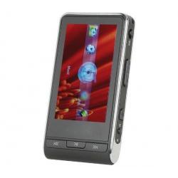 Odtwarzacz MP4 MP208 z sensorem foto 2 GB czarny + Słuchawki stereo dzwiek digital(CS01) + Ładowarka USB biała...
